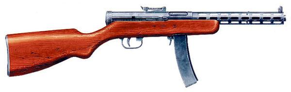 Пистолет-пулемет Дегтярева 1934 года