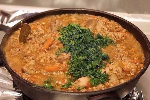 гречневая каша с мясом мужская кухня
