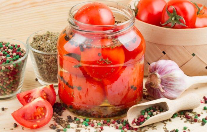быстрые маринованные помидоры - 01