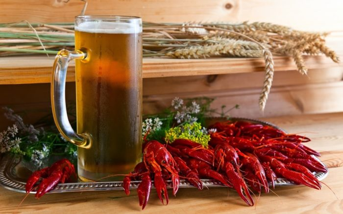 пиво с раками и пиво с рыбой фото – 01
