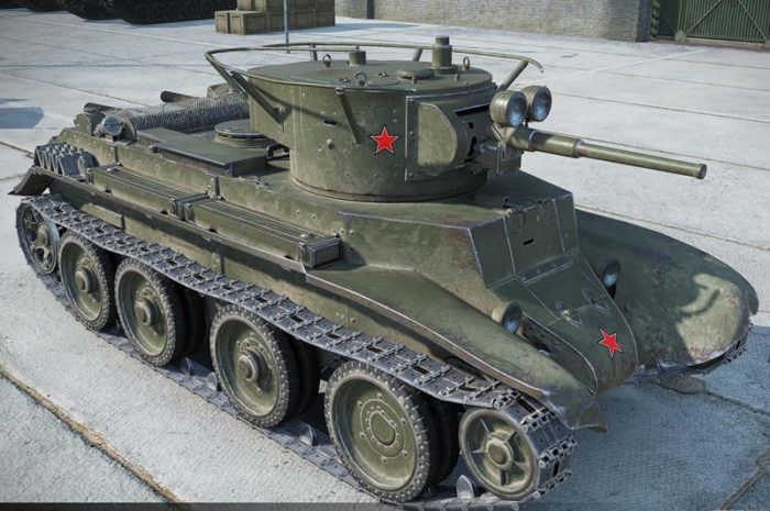 советский танк БТ-7 - 12