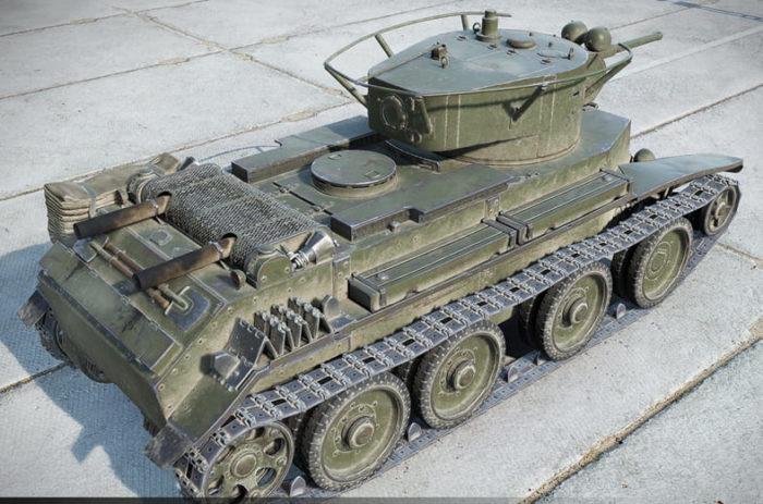 советский танк БТ-7 - 13
