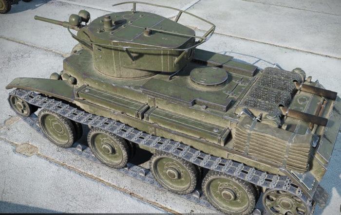 советский танк БТ-7 - 14